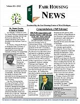 Fair Housing News Volume 3 - 2013